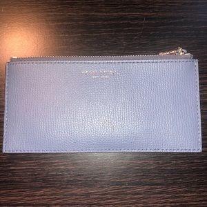 light blue slim Henri Bendel wallet